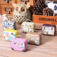 6Pcs Novelty Home Organizer Creative Mini Storage Bag Small Tin Candy Box Cartoon Cute Coin Boxes Christmas Gift Box For Kids(China (Mainland))
