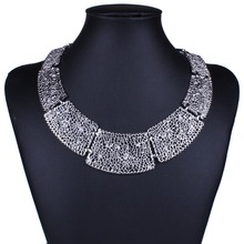New Fashion Jewelry Alloy Hollow Out Geometric Choker Statement Necklaces For Women Girl Ladies Gift XL5836