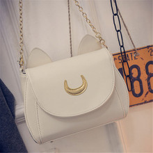 2015 new Limited Sailor Moon Bag Ladies Handbag Black White Cat Luna Moon Women Messenger Crossbody Bag