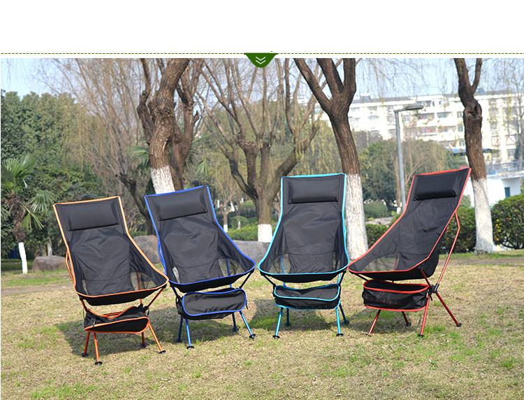 Nuevo diseño exterior alargar portátil ligero que acampa plegable taburete silla con cómoda almohada(China (Mainland))