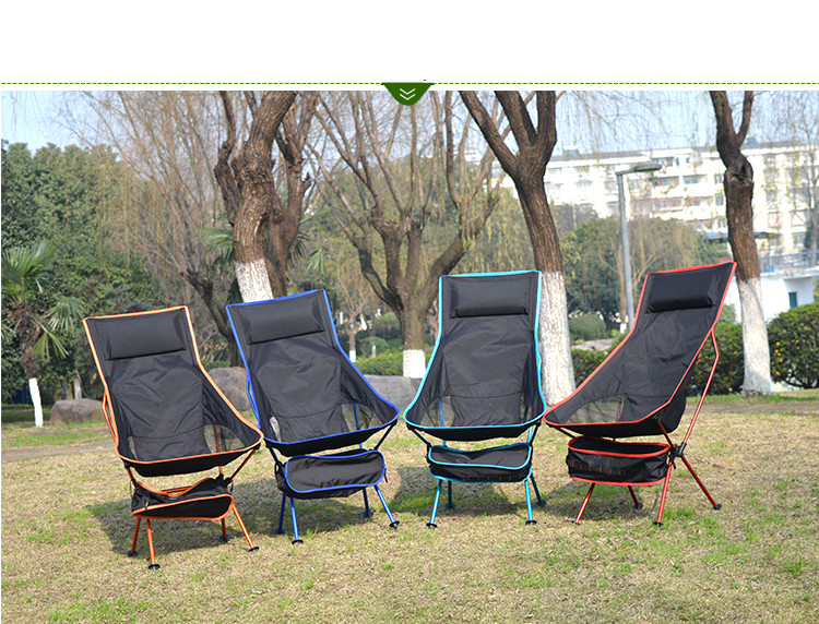 New Design Outdoor Lengthen Portable Lightweight Folding Camping Stool Chair With comfortable pillow(China (Mainland))