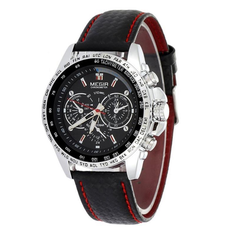 mens watches top brand luxury megir quarz relogio