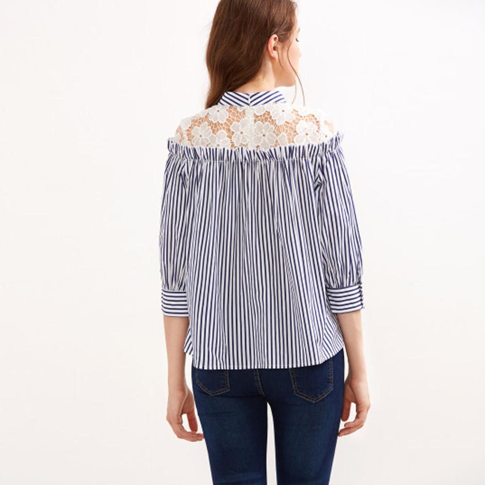 Блузка В Вертикальную Полоску