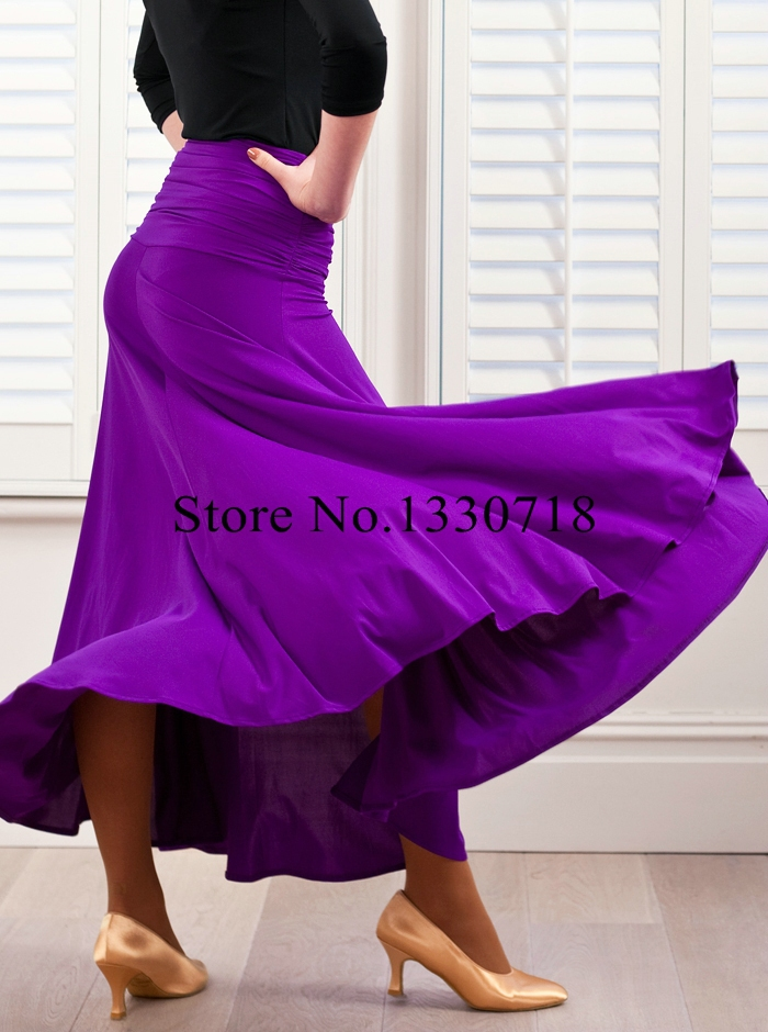 Dancing long dress girls waltz tango expansion skirt costumes modern