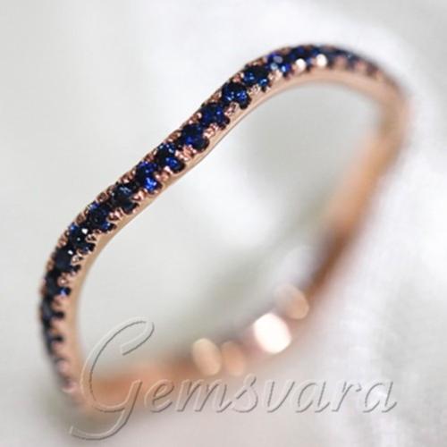 Engagement Ring Vs Wedding Ring 14K Rose Gold Wedding Band Engagement Ring Anniversary Gift In Rings