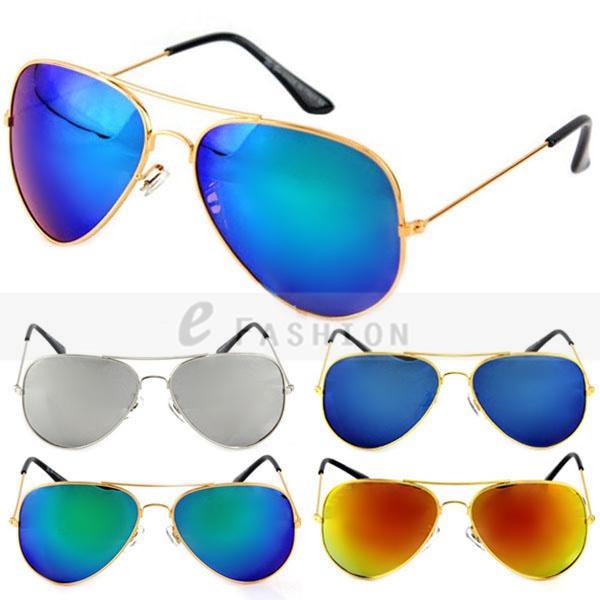 Free Shipping! 2015 Fashion New  Men Women Unisex Pilot Style Shade UV400 Sunglasses Goggles 120-0042