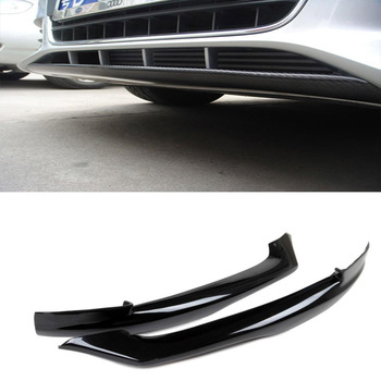 Top quality A4 B8 O style FRP front splitter + carbon fiber front bumper spoiler lip for Audi (Fits 09-12 A4 B8 standard bumper)