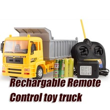 Olympian child truck remote control car chargable dump-car boy electric toy model(China (Mainland))