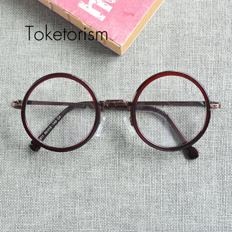 Glasses Frames On Trend : Vintage trend men women retro round frame glasses computer ...