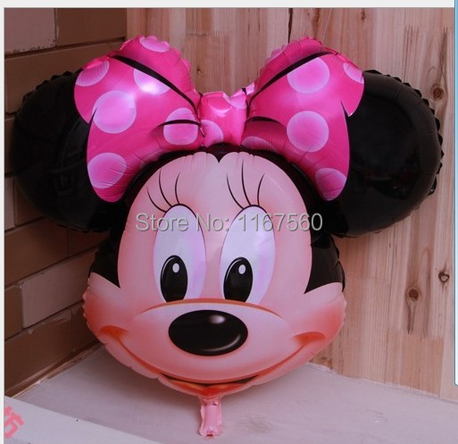 Party Supplies fashion classic children's toys Party Mickey Minnie cartoon aluminum foil balloons wholesale and retail(China (Mainland))