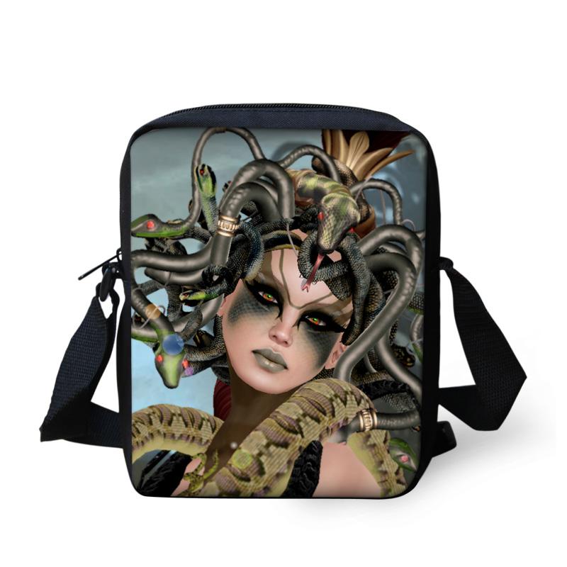 FORUDESIGNS Cool India Women Medusa Printing Messenger Bags Casual Mini Crossbody Bags for Woman Mochila Ladies Handbags Wallet(China (Mainland))