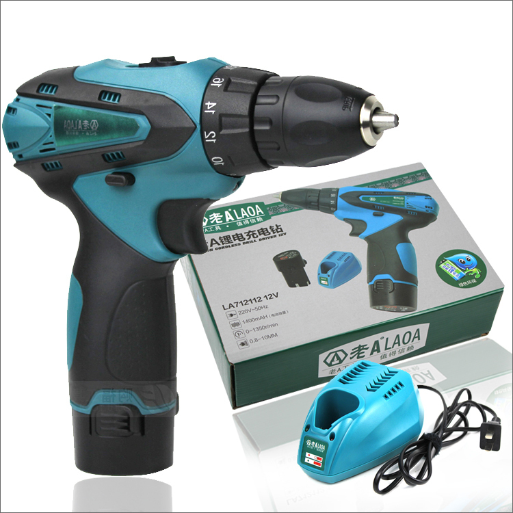 12V double speed Li-ion battery industrail grade waterproof electric drill  charged electric drill,+2 battery+1charger<br><br>Aliexpress