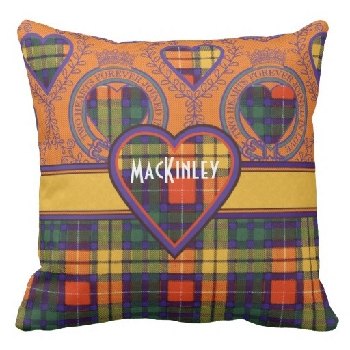 Soft Mackinley Clan Plaid Scottish font b Kilt b font Tartan Throw Pillow Case Size 45x45cm