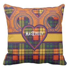 Soft Mackinley Clan Plaid Scottish Kilt Tartan Throw Pillow Case (Size: 45x45cm) Free Shipping