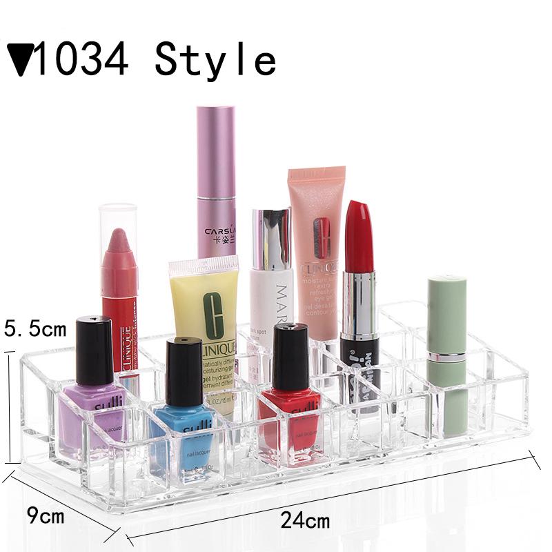 Organizer Manufacturers Selling Cosmetics Jewelry Box Lipstick Nail Polish Transparent Plastic Containing 1034 Eyebrow Pencil(China (Mainland))