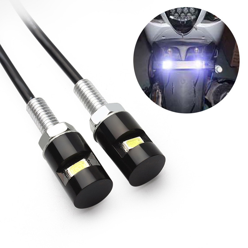 2pcs/lot 12V Motorbike Tail Number Styling Light Car Auto Motorcycle License Plate Lamp Light