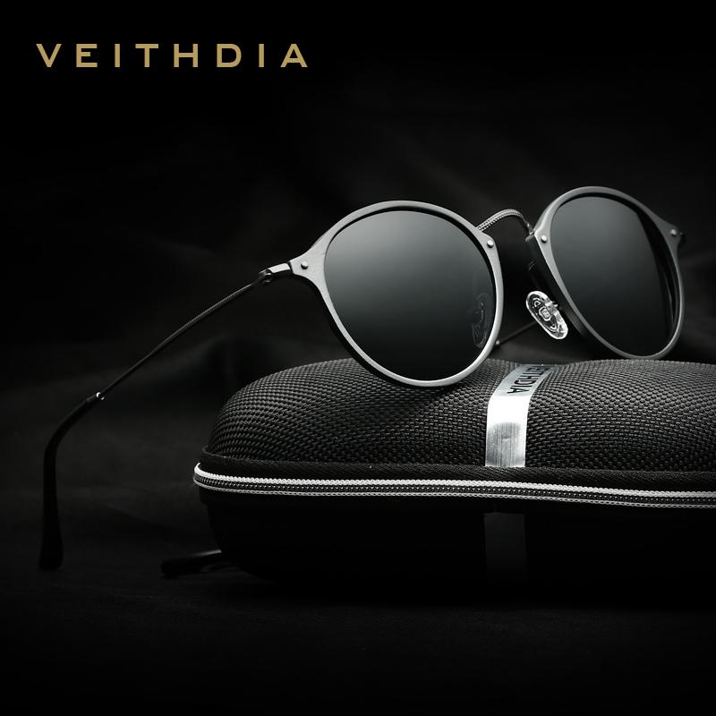 VEITHDIA Brand Fashion Unisex Sun Glasses Polarized Coating Mirror Driving Sunglasses Round Male Eyewear For Men/Women 6358(China (Mainland))