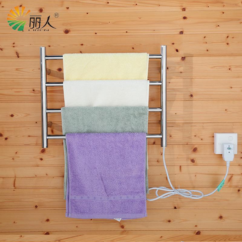 LiRen Factory-Direct M4 500mmx 400mm Stainless Steel Heated Towel Rail bathroom electric towel racks towel rail towel warmer(China (Mainland))