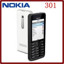 Original Nokia 301 Unlocked WCDMA 2.4`` Dual SIM Cards 3.2MP QWERTY Keyboard Refurbished Mobile Phone Free Shipping(China (Mainland))