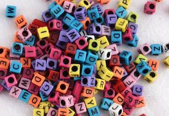 Куб письмо алфавит бусины подвески станок аксессуары резинки ткацкий станок bracelete ткацкий станок для детей DIY ремесло игрушка наборы и игры