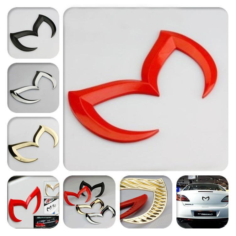 car styling 3D Metal Evil M Rear Car accessories automobiles Stickers on cars for MAZDA6 3 toyota chevrolet kia rio ford fiesta(China (Mainland))