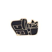 Vintage Fashion Mata Bulat Enamel Bros untuk Unisex Lencana Mesin Pin Denim Pakaian Jaket Kerah Pin Aksesoris(China)