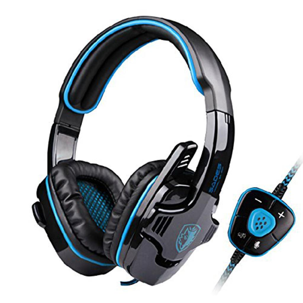 SADES 901 Pro USB PC Gaming Headset 7.1 Surround Stereo Headband headphones with Microphone Deep Bass Volume Controller Remoter(China (Mainland))