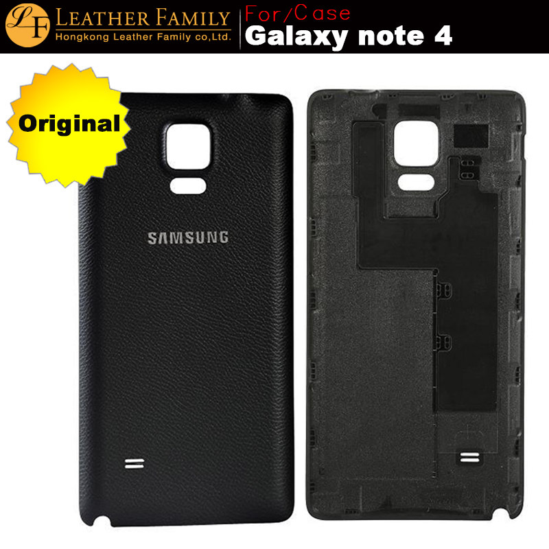 buy original for galaxy note 4 plastic battery back cover for samsung galaxy. Black Bedroom Furniture Sets. Home Design Ideas