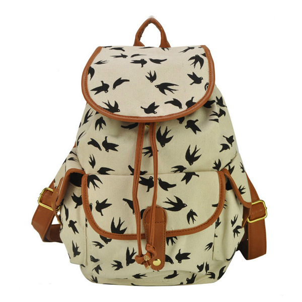 Free Shipping!New 2015 Charming canvas women Backpack School Rucksack Portable lady Bag school bags for student Z4(China (Mainland))