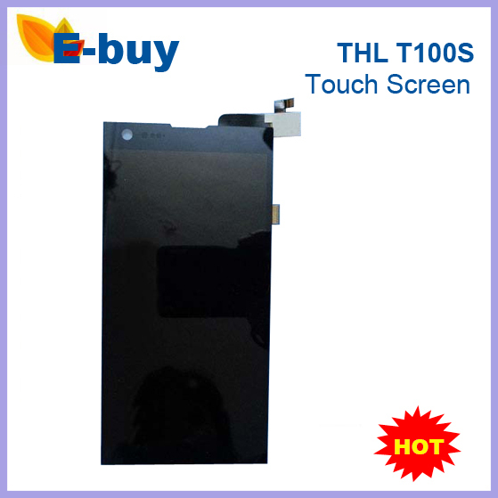 100% Original THL T100 T100S Touch Screen + LCD Display black color Phone Free shiping - E-Buy Store store