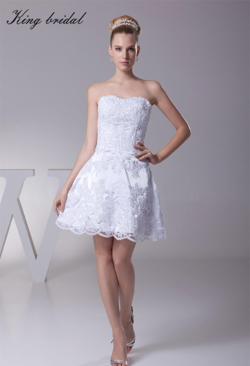 High Quality White Short Reception Dress-Buy Cheap White Short ...