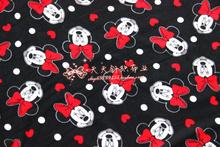 170x100cm cotton knit fabrics polar fleece prints Patchwork DIY clothes coat material dress Sewing Textile Tilda tecido(China (Mainland))