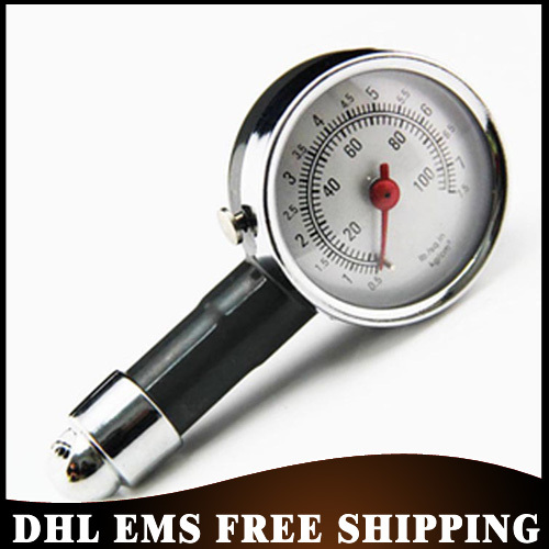 Free DHL EMS 200PCS/LOT Vehicle Motorcycle New Car Dial Tire Gauge Meter Pressure Tyre Measurement Tool Wholesale(China (Mainland))