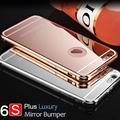 Kasatin 6 6S Luxury Brand Rose Gold Mirror Bumper Case For Apple iPhone 6S Plus Aluminum