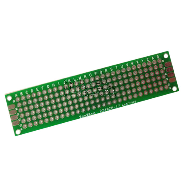 10PCS / LOT 2 * 8 double-sided spray tin universal board Wan experimental test board circuit board hole plate perforated plate(China (Mainland))