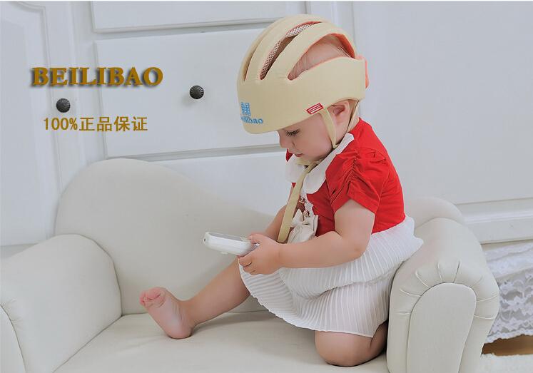 Новое поступление! 100% хлопка младенческой малыш защитный шлем безопасность безопасность продукты защиты головы прогулки ползать помощь