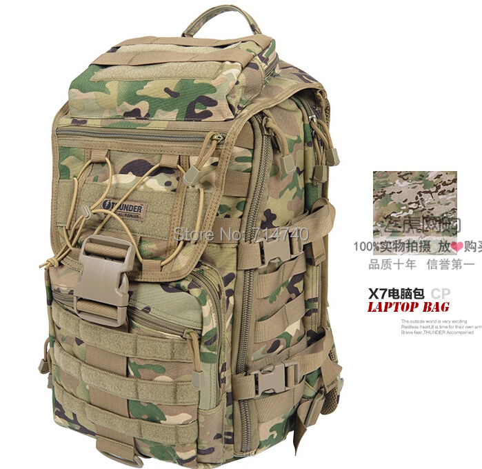 THUNDER X7 Army Tactical Laptop Backpacks Military Camouflage Outdoor Travel Hiking Camping Bag Sports Computer Bags 1000D Nylo - Tactical's store
