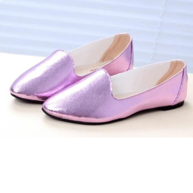 New spring autumn hot  fashion casual flat shoes women light solid female shoe leather shoes sweet slip tip flats boat shoes