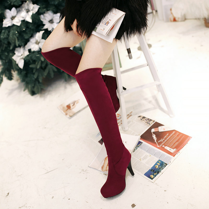 New Arrives Hot Sale Sexy Nubuck Leather Over The Knee Boots for Woman Fashion High Heel Long Boots for Women W1-ST-96-2