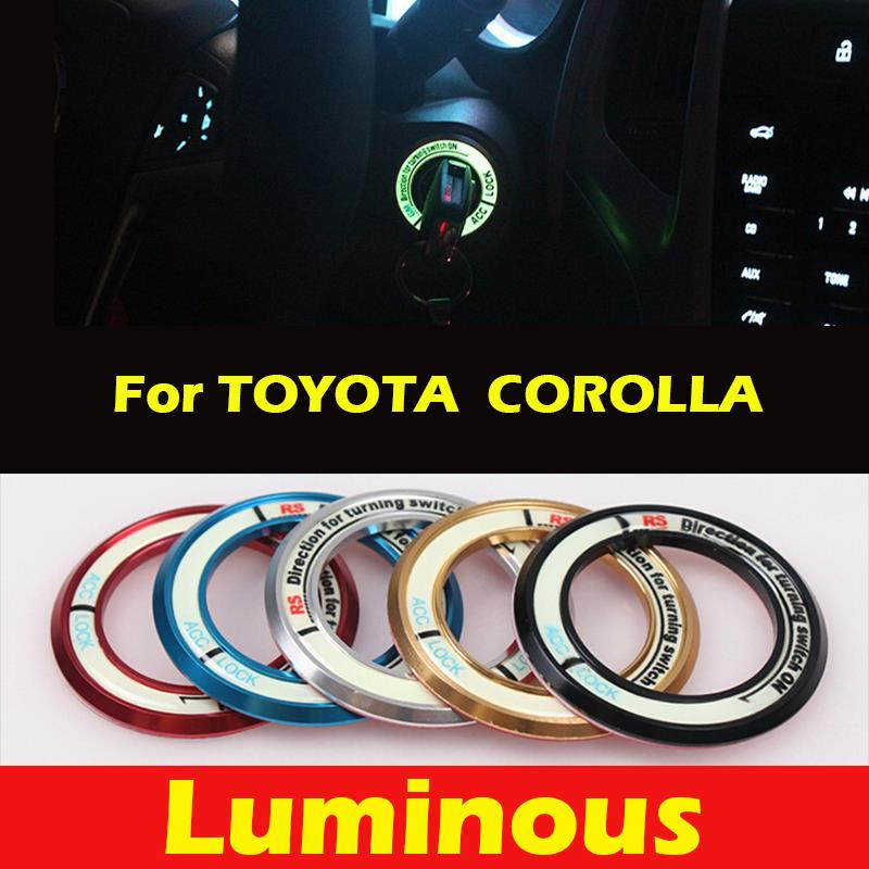 New Car Sticker for TOYOTA COROLLA 2010 or Later,Ignition Switch Key Cover,Luminous,Interior/Exterior Accessories Parts Fashion(China (Mainland))