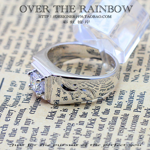 Accessories male ring wedding ring hearts and arrows ring