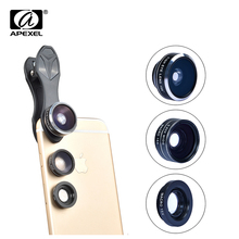Buy APEXEL 3 1 Clip Cell DG3 Phone Camera 198 Degree Fisheye Lens + 0.63X Wide Angle +15X Macro Lens iPhone Samsung Xiaomi for $9.44 in AliExpress store