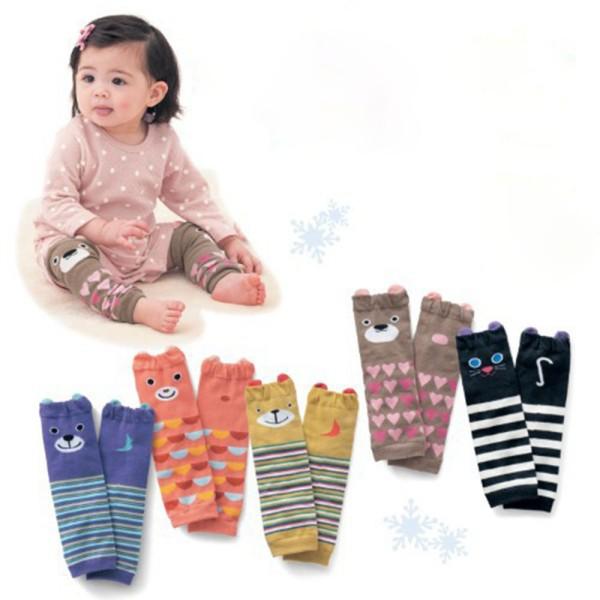 Hot Sales Cartoon Air Conditioning Baby Leg Warmers Baby Boys Girls Toddler knee-length Striped Leg Warmer