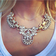 Sunshine Crystal stone Collar Statement Necklaces Personalized Vintage Retro Choker rhinestone Maxi necklace Jewelry For Women(China (Mainland))