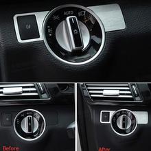 Chrome Front Head Light Switch Cover Trim Sticker Mercedes Benz B C E Class GLK GL ML CLS Styling Car Interior Accessory - Babycity Ornament store