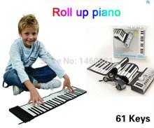 61 ключи рулон вверх пианино гибкий рулон вверх электронный клавиатура цифровой пианино / пианино клавиатура музыкальный инструмент