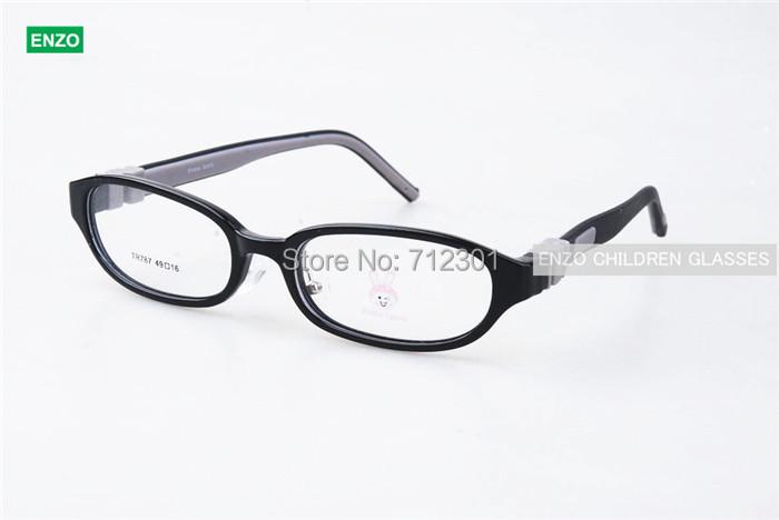 Kids Eyeglasses No Screw Bendable Plano Lenses Size 49mm, Children Eyewear, Silicone TR90 Teens Glasses, Unbreakable & Light(China (Mainland))