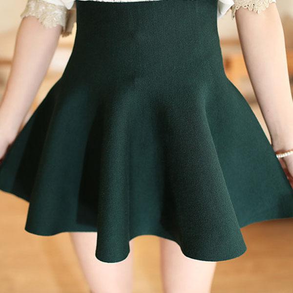 Самая низкая цена! Женщин плиссированные мини-юбки конькобежец высокая талия короткие юбки растянуть юбка размер M