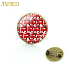 Tafree Vintage Pria Wanita Old London Merah Double Decker Bus Lencana Bros Pin Perhiasan Perdamaian dan Cinta Pesona Bros Hadiah h192(China)