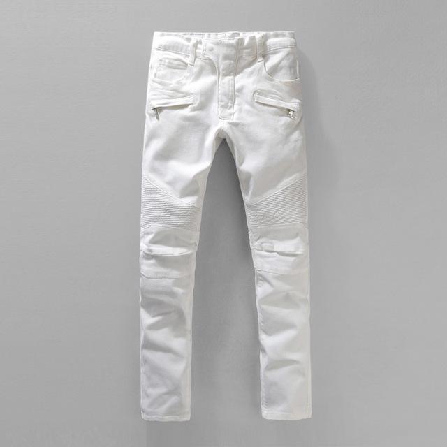 BM brand 2015 мужчины дизайнерские джинсы белые джинсы мужчин повседневная мужская ...